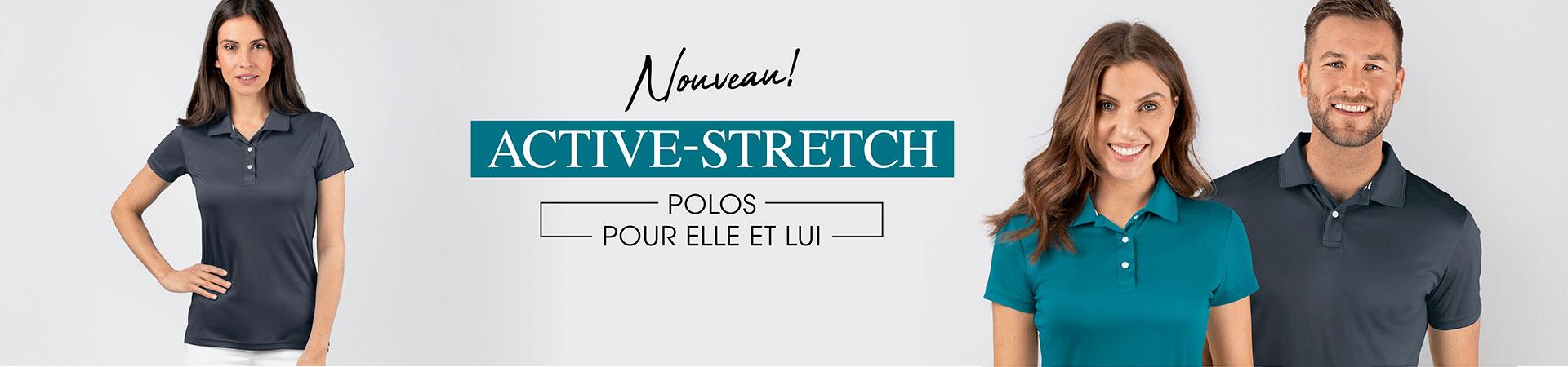 Nouveau polos active stretch