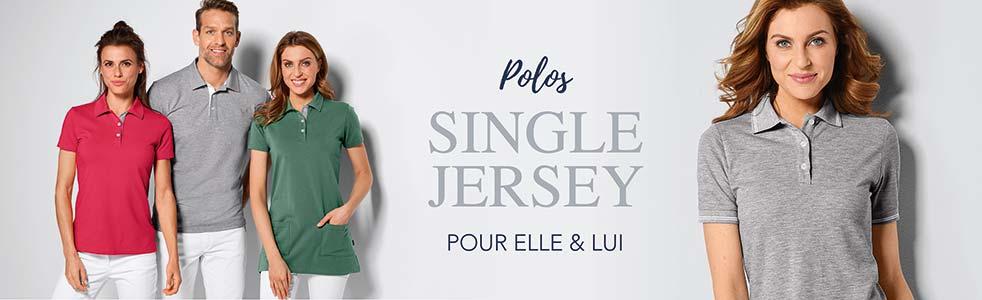 Shirts polos Single Jersey